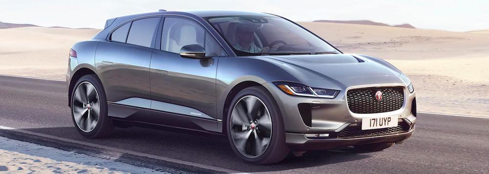 2019 jaguar i pace silver driving