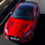 2020 jaguar f-type red top view