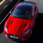 2020 jaguar f-type red top view