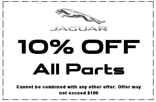 Jaguar Shreveport, Parts Specials, 10% off parts