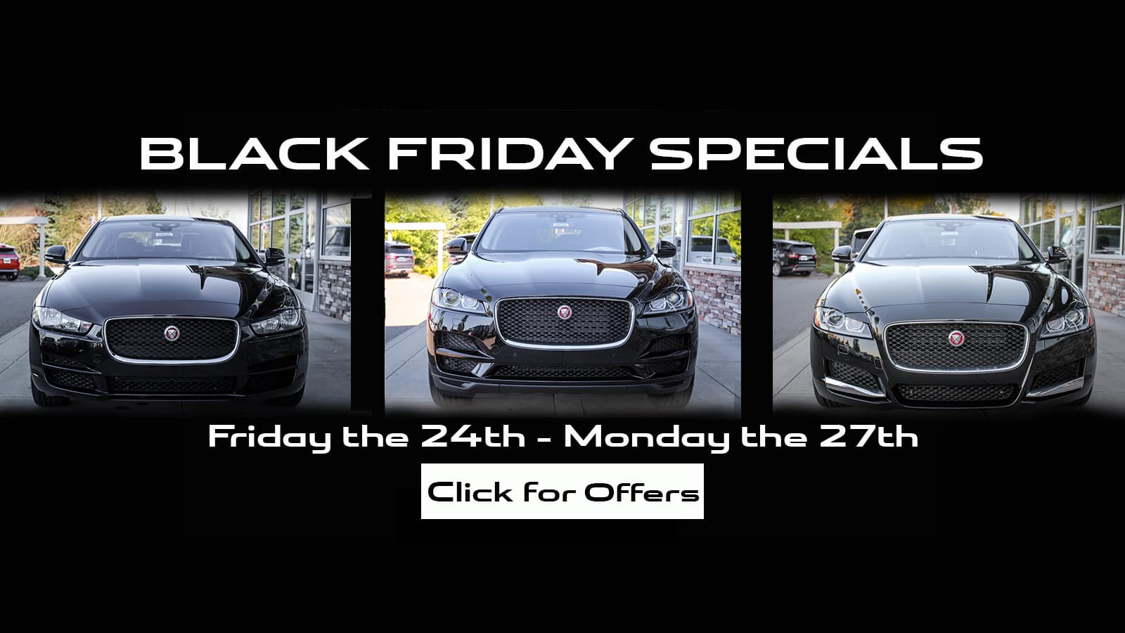 Black Friday Specials Slide (Jaguar Seattle)