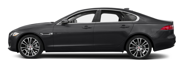 Black Jaguar XF side view
