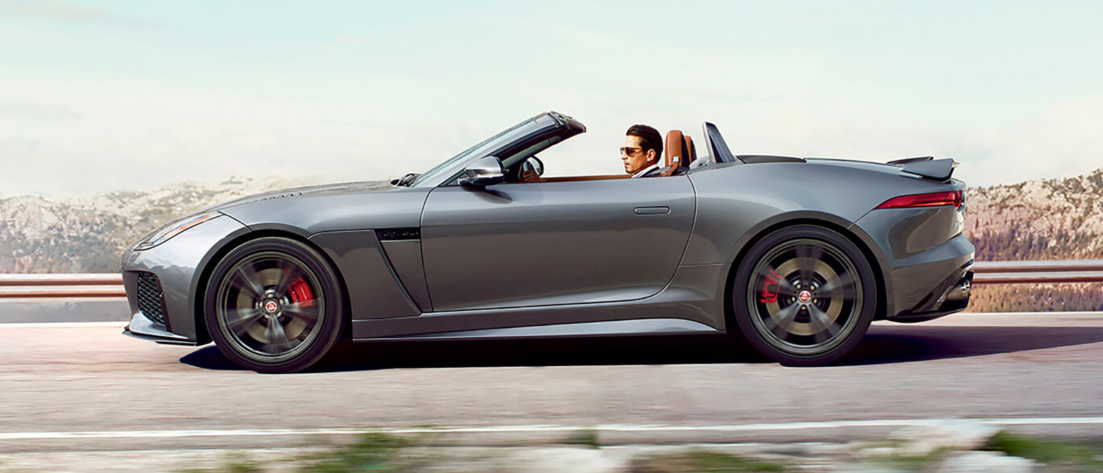 2017 Jaguar F-Type Convertible driving