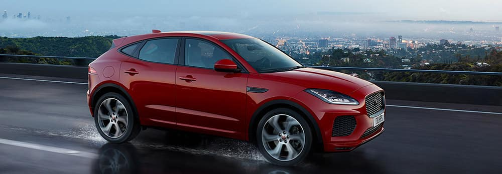 2018 Jaguar E-PACE First Edition driving through rain