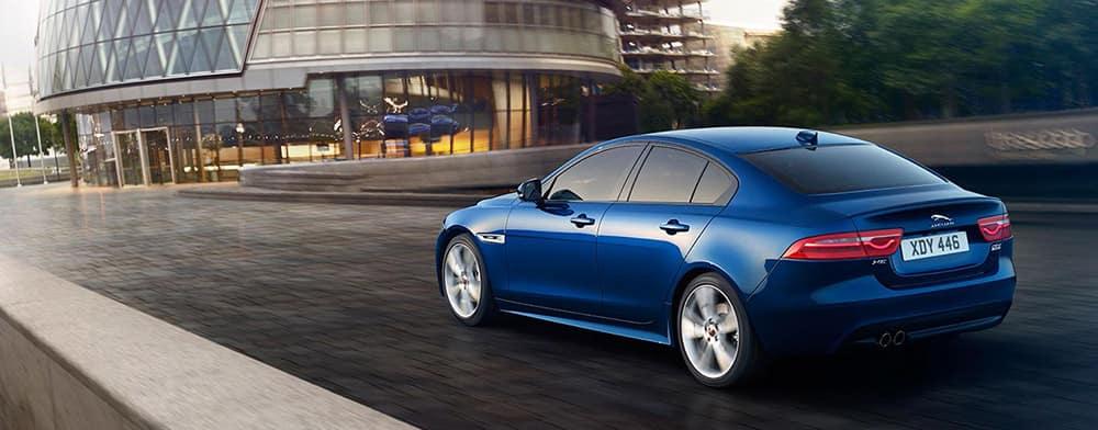 Blue 2018 Jaguar XE banner