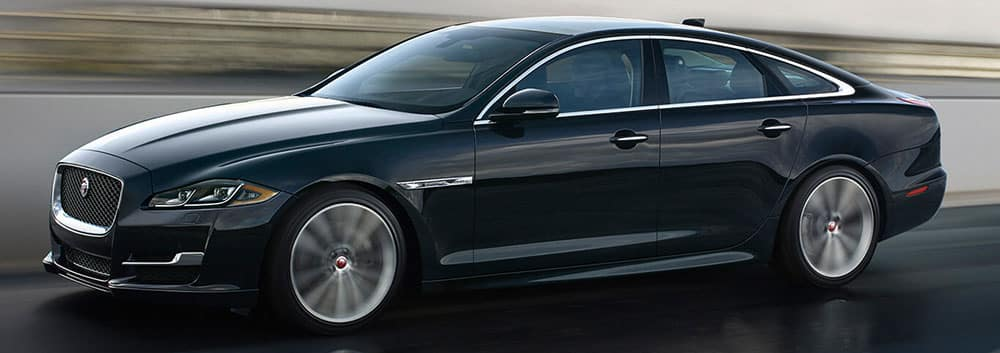 2018 Jaguar XJ Side Profile view driving