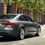 2018 Jaguar XF driving in city banner