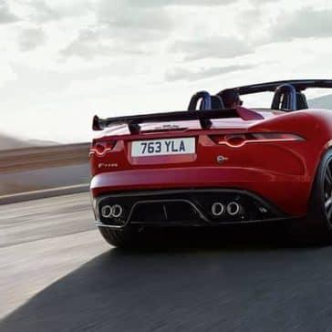 2019 Jaguar F-Type Convertible rear view