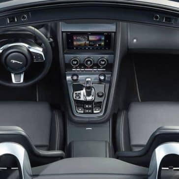 2019 Jaguar F-Type convertible interior top down view