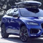 Jaguar F-Pace with roof storage accessory