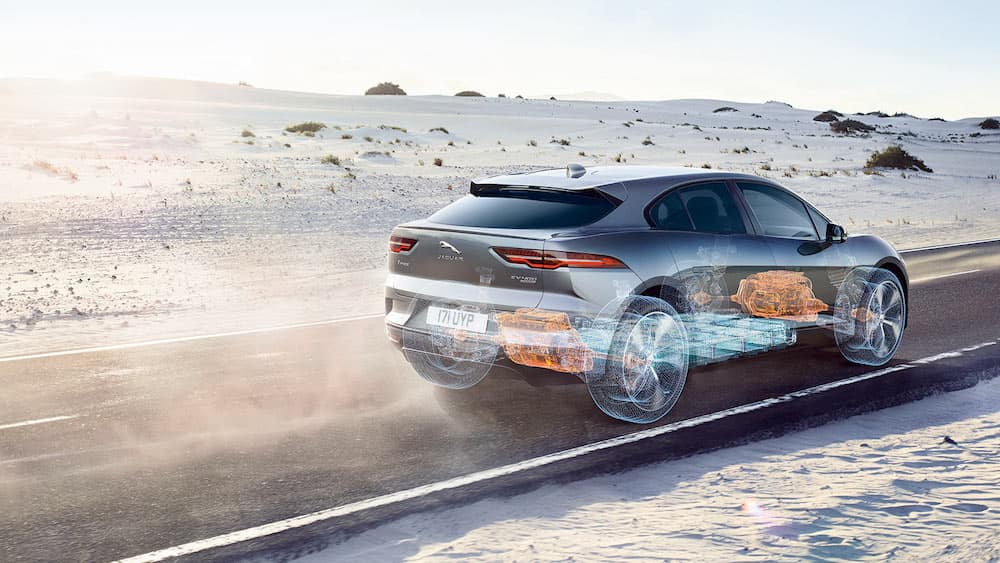 2019 Jaguar I-PACE Rear view on road