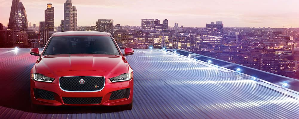 2019 Jaguar XE in the city