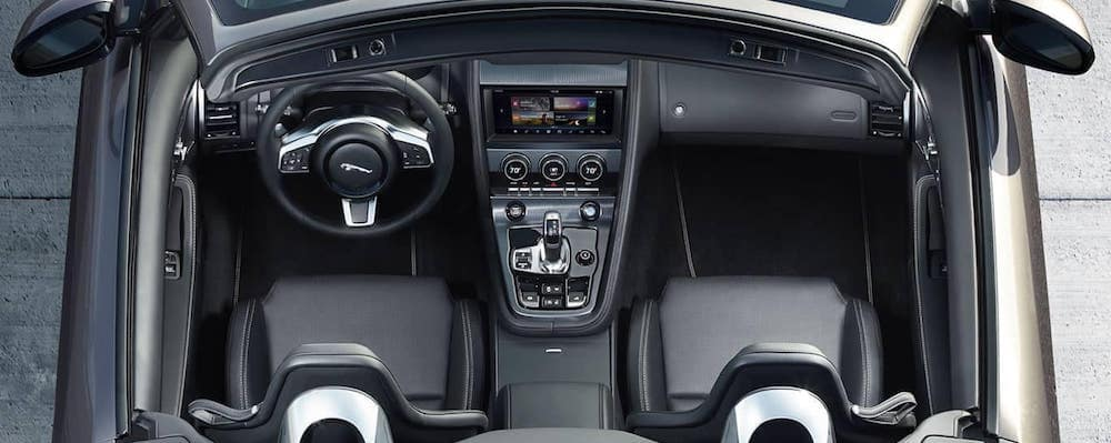2019 jaguar f-type convertible interior birds eye view