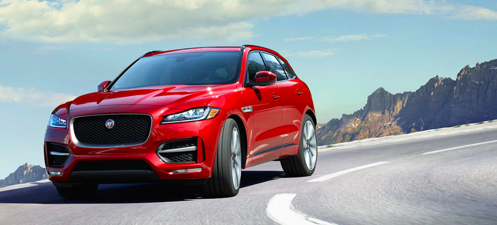 2019 F-PACE Cornering on a Road