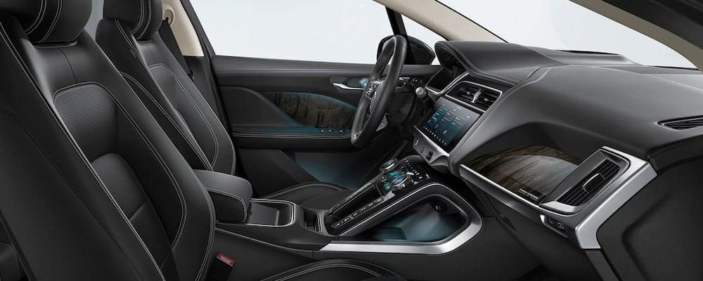 2019 Jaguar I-PACE Ebony Windsor Leather Seats with Ebony Interior and Light Oyster Headlining