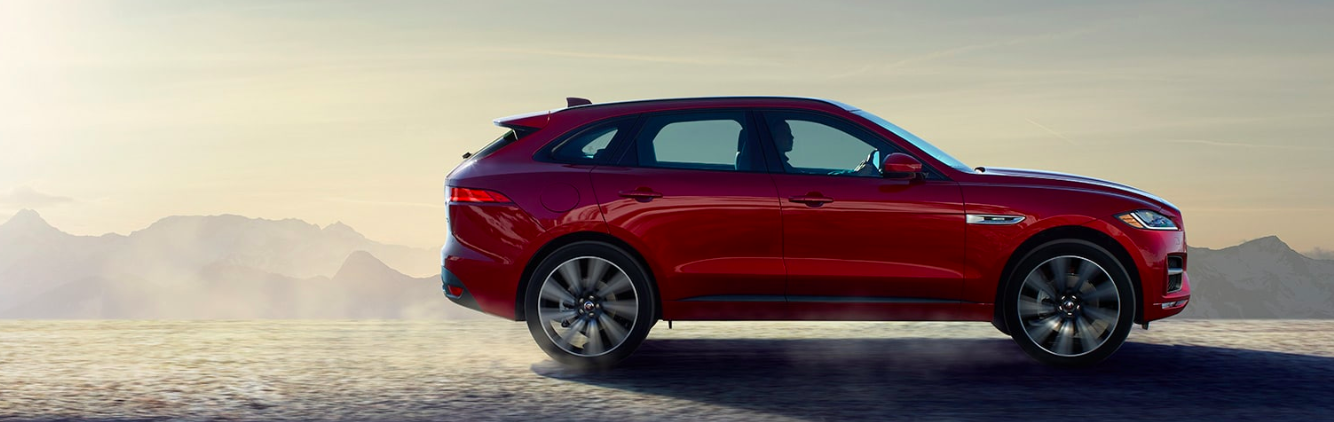 2019 Jaguar F-PACE Driving in Desert