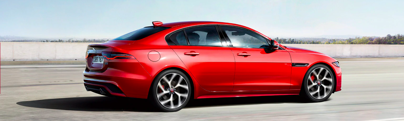 2020 Jaguar XE Driving on a race track