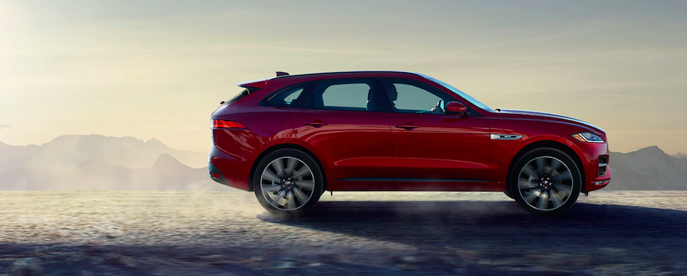 2020 Jaguar F-PACE Driving in a desert