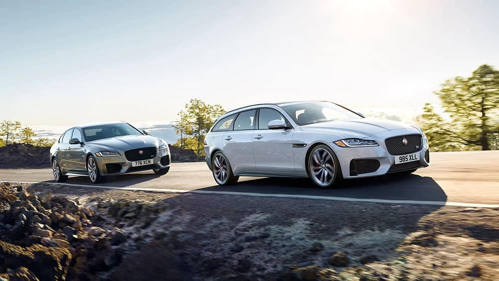 2020 Jaguar XF Pair Driving