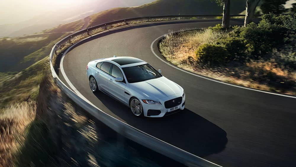 2020 Jaguar XF Taking Curve