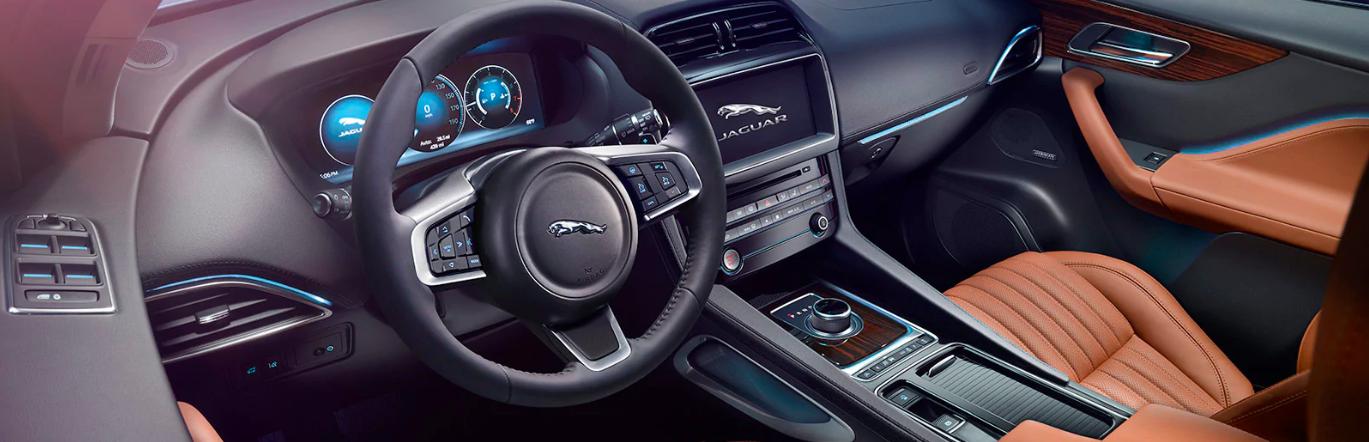 Interior view of a 2020 Jaguar F-PACE