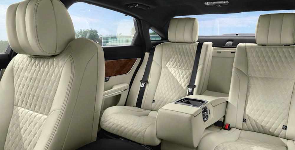 Leather seats inside a 2019 Jaguar XJ