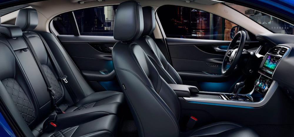 The refined interior inside a 2020 Jaguar XE