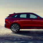 2020 Jaguar F-Pace on sand roads