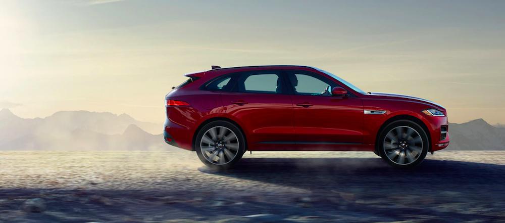 2020 Jaguar F-Pace on sand roads
