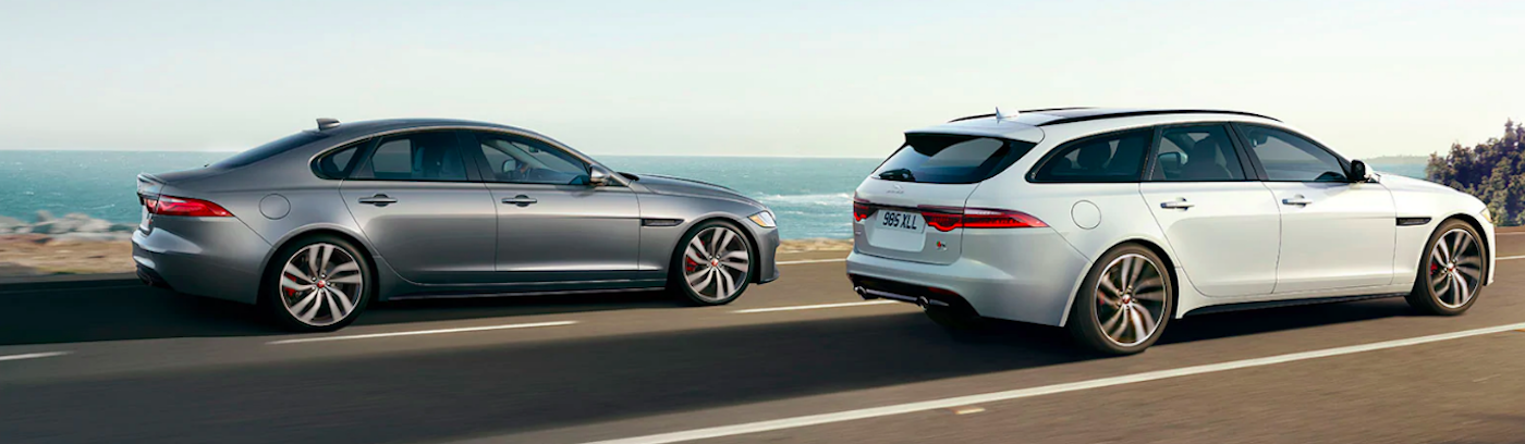 Jaguar XF Sedan and Sportbrake on highway