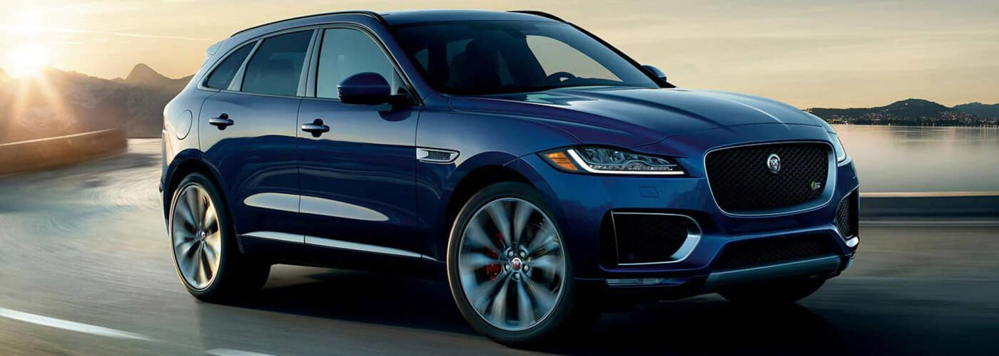 2020 Jaguar F-PACE on highway