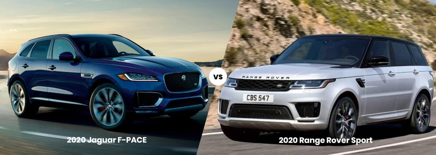 Jaguar F-PACE vs. Range Rover Sport banner