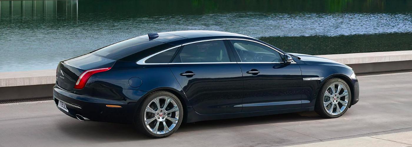Jaguar XJ parked