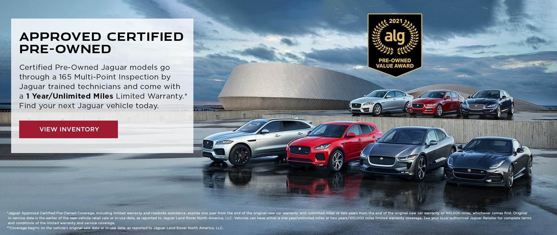 Jaguar Certified Pre-Owned Banner