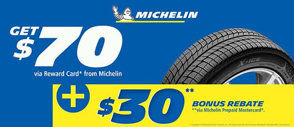 Michelin $70 Tire Rebate at Keenan Honda