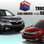 "2017 Honda CR-V and Ridgeline Make Car and Driver ""10Best"" List"