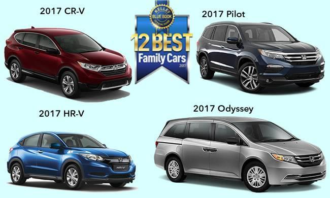 Four Honda Models Top KBBs 2017 Family Friendly List