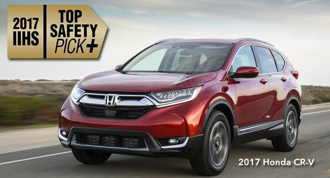 2017 cr v earns top safety rating from iihs top safety pick. Black Bedroom Furniture Sets. Home Design Ideas