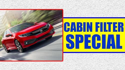 Honda Cabin Air Filter Special at Keenan Honda