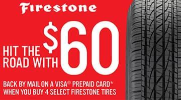 Firestone Rebate up to $60 at Keenan Honda