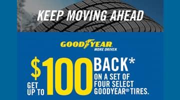 Goodyear $100 Tire Rebate at Keenan Honda