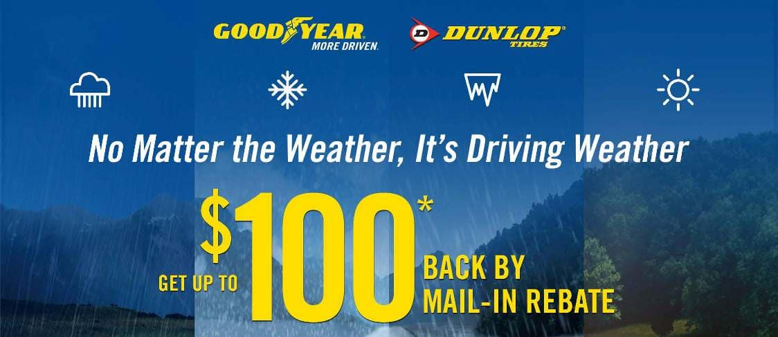 Goodyear | Dunlop $100 Tire Rebate