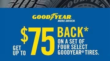 Goodyear $75 Rebate for Honda Tires