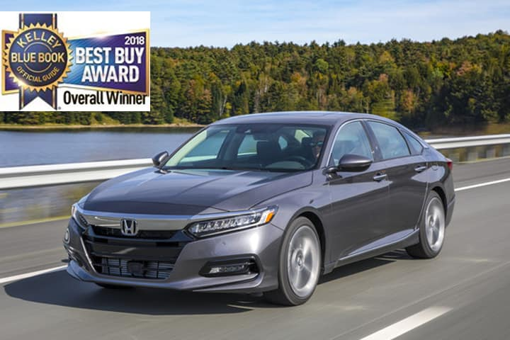 2018 Honda Accord Named Kelley Blue Book (KBB) Overall Best Buy of 2018