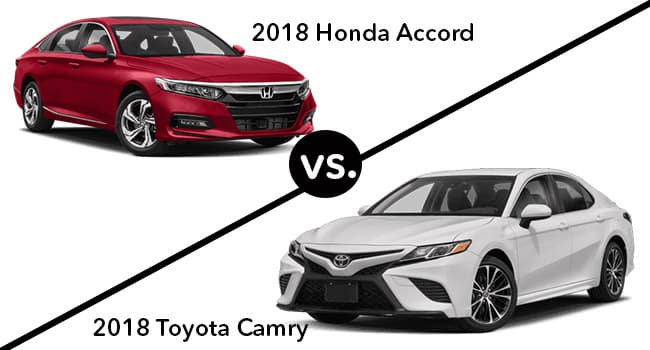 Toyota Camry Vs Honda Accord >> 2018 Honda Accord Vs 2018 Toyota Camry Side By Side