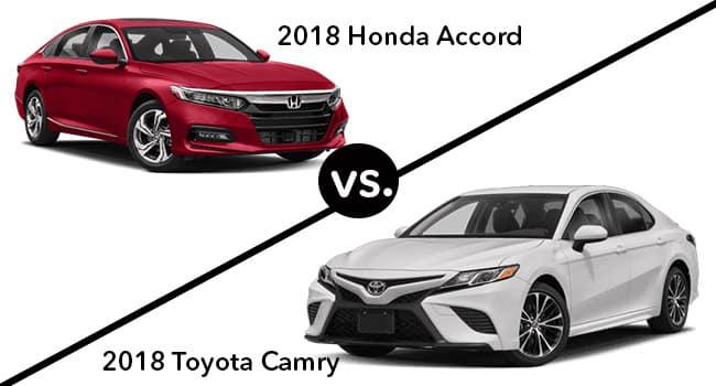 2018 Honda Accord vs. 2018 Toyota Camry
