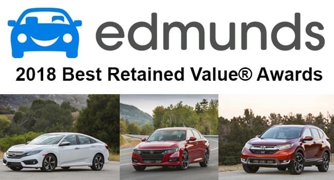 Edmunds Car Appraisal >> 3 Honda Models Earn 2018 Edmunds Best Retained Value Awards