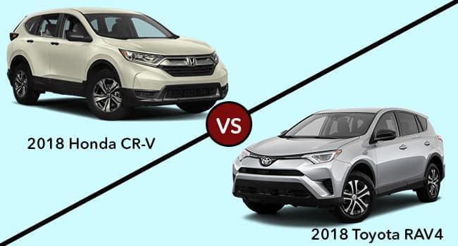 2018 Honda CR-V vs 2018 Toyota RAV4