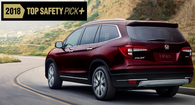 2019 Honda Pilot Earns Top Safety Score from IIHS