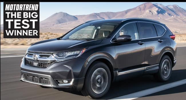 2019 Honda CR-V Tops Motor Trend's Compact SUV List in the Big Test